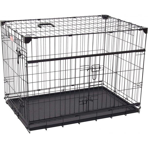 Hundebur - letvægt og med skydelåge XX-Large ( L x B x H )122 x 76 x 84 cm